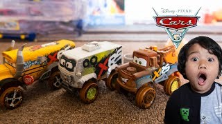 Unboxing Disney Cars 3 Toys XTREME RACING SERIES Diecast Arvy Mater Miss Fritter XRS Toy Review