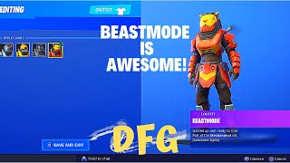 *NEW* Awesome Beast Mode Skin Gameplay - Full Gameplay (Fortnite Battle Royale)(DFG)