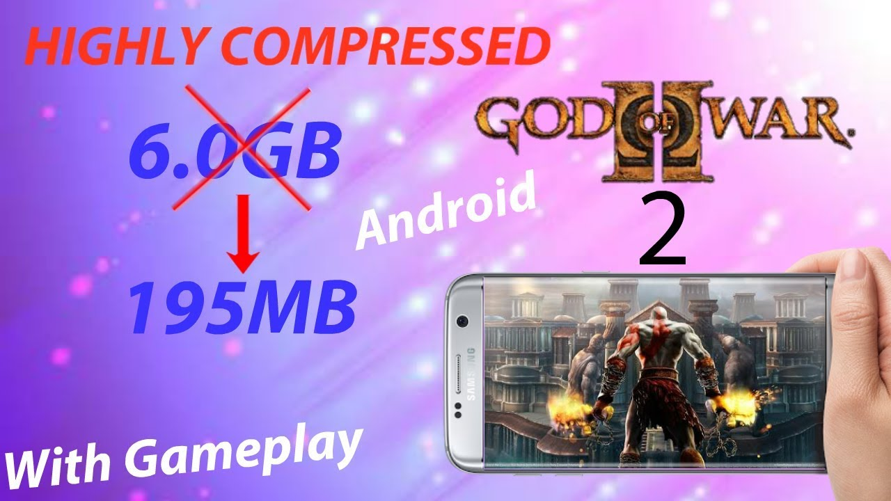 195MB]GOD OF WAR 2 Highly compressed android| proof with gameplay