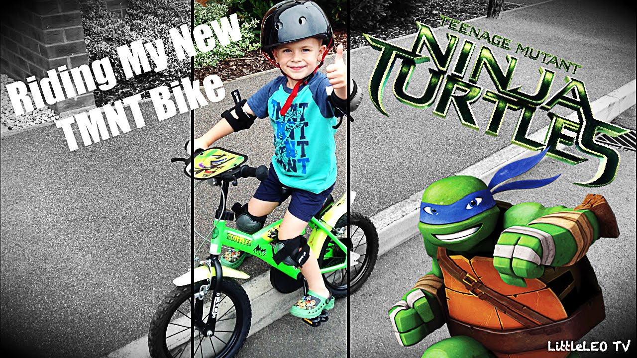 0f51c8fd9d3 TMNT Riding My New Teenage Mutant Ninja Turtles Bike - YouTube