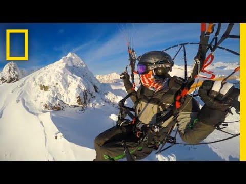 Paramotor Flight Over Alaska's Chugach Mountains and Knik Glacier   National Geographic