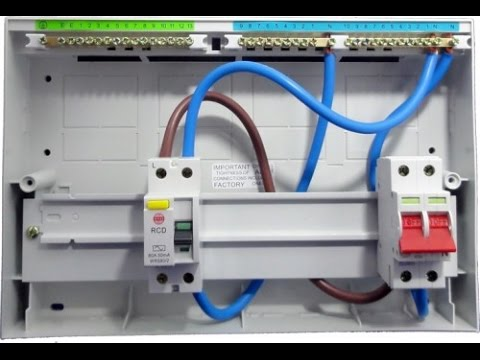 Single Pole MCB Circuit Breaker Wiring In Urdu and Hindi - YouTube