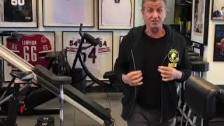 Sylvester Stallone training 2018 for Rambo 5.