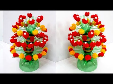 Diy Flower Vaseguldasta From Plastic Bottle Best Out Of Waste