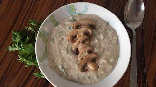 Крем-суп из шампиньонов/Cream-soup with mushrooms