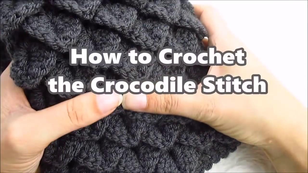 How to Crochet the Crocodile Stitch - YouTube