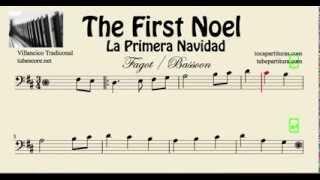 La Primera Navidad Partitura de  Fagot The First Noel