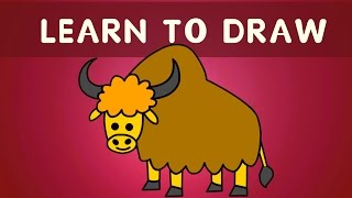 You Can Teach Your Child At Home | Learn To Draw Yak