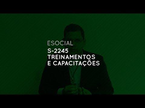 eSocial: S-2245 Treinamentos e Capacitações