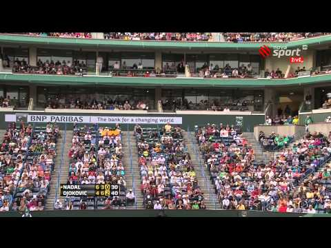 Nadal vs Djokovic Indian Wells 2011 Final FULL MATCH 1080p Part 2 BNP Paribas Open
