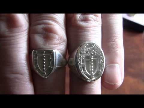Family Crest Shield Ring, Coat of Arms Heraldic Ring