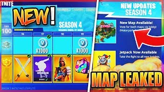 "*NEW* Fortnite SEASON 4 MAP LEAKED?! - ""TILTED TOWERS"" REPLACED TOMORROW!? NEW Fortnite SEASON 4!"