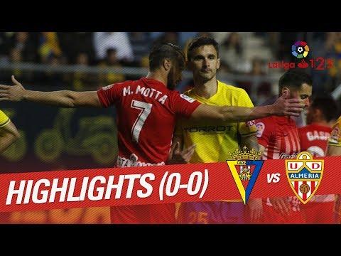 Resumen de Cádiz CF vs UD Almería (0-0)