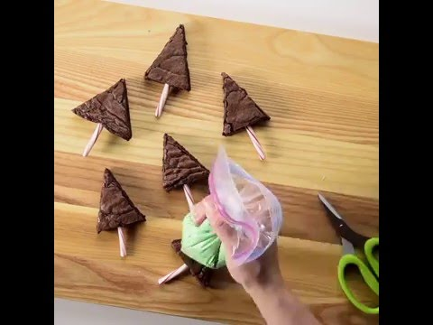 Holiday Brownie Trees