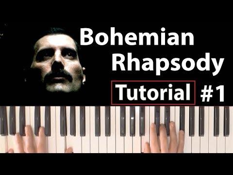 """Como Tocar """"Bohemian Rhapsody""""(Queen) - Parte 1/4 - Piano Tutorial, Partitura Y Mp3"""