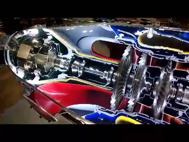 This Full Motion Cutaway Of A PT6 Turboprop Engine Is A Glorious
