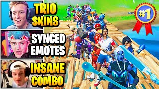 Streamers Host TRIOS Skin Contest | Fortnite Daily Funny Moments Ep.516