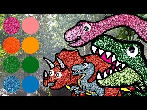 Dinosaurs for kids, Dinosaurs Learn Name and Sounds   Tyrannosaurus, Raptor, Triceratops