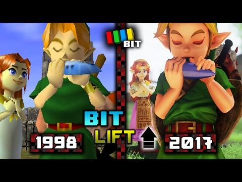 Legend of Zelda Ocarina of Time (1998) vs. (2017) Graphics | Bit Lift [TetraBitGaming]