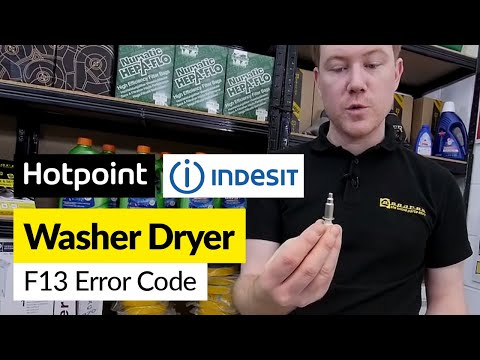 How to Fix an F13 Error on a Washer Dryer (Hotpoint/Indesit)