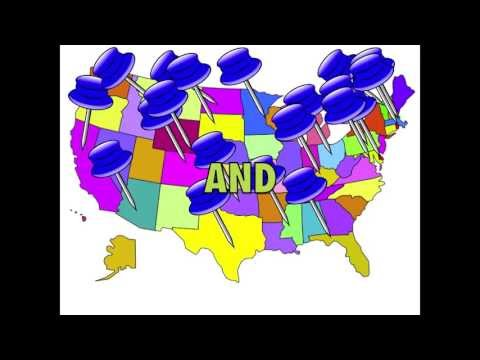 50 State Capitals Song with U.S. Map