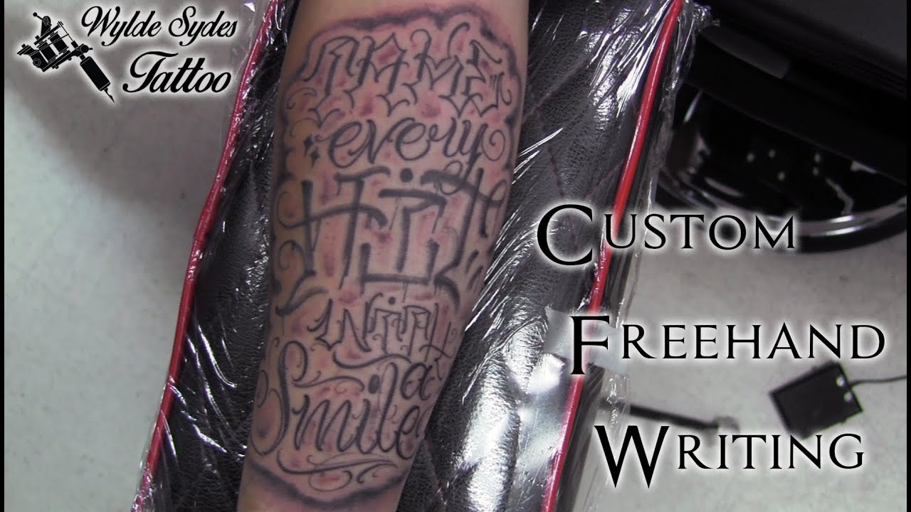 Hand Lettering Tattoo Font