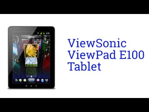 ViewSonic ViewPad E100 Tablet Specification [America]