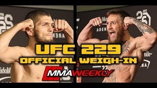 UFC 229 Official Weigh-In: Khabib Nurmagomedov vs. Conor McGregor (FULL Weigh-in)