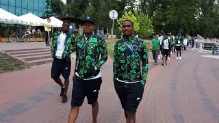 Super Eagles taking a walk in Russia