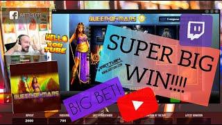 Big Bet!! Super Big Win From Queen Of Mars Slot!
