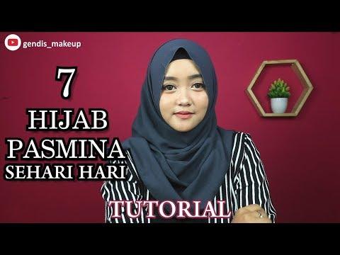 7 Tutorial HIJAB PASMINA SEHARI HARI SIMPLE