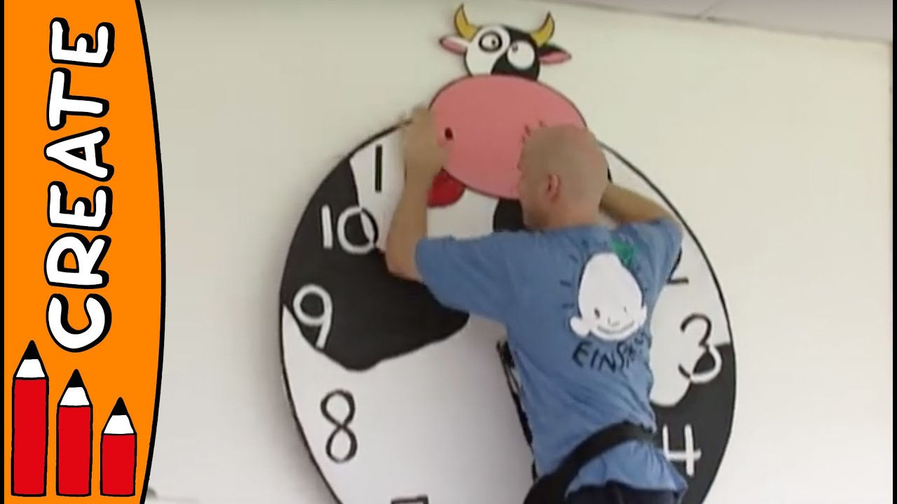 Craft Ideas For Kids - Cow Clock   Mega Cardboard Craft   Øistein ...