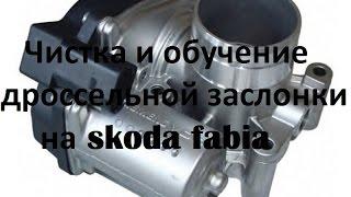 Чистка и обучение дроссельной заслонки на Skoda Fabia