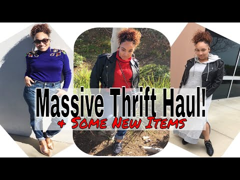 Thrift With Me | My Biggest Haul EVER | First Try On Thrift Haul of 2018