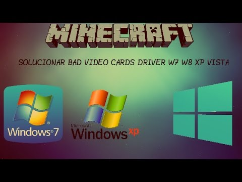 HELP WITH BAD VIDEO CARD DRIVERS for MINECRAFT