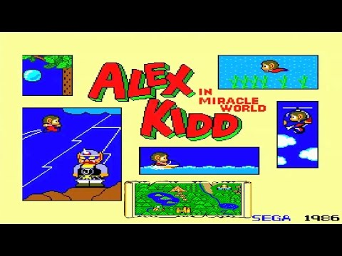 Alex Kidd In Miracle World part 1 sega master system fusion emulator pc
