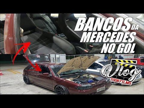 VLOG7008 - BANCOS DE MERCEDES NO GOL BOLA! Comprou uma Mercedes para tirar os bancos?
