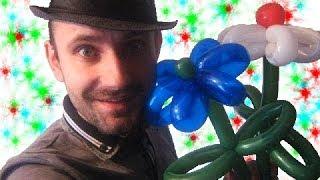 Ромашка из шариков шдм аэродизайн цветы ★ flower from a balloon Daisy