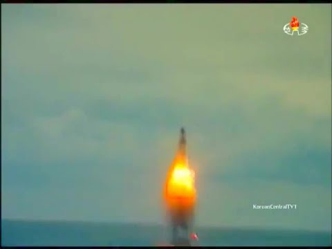 KCTV - North Korea Nuclear-Capable Submarine Launched Ballistic Missile Testing [480p]