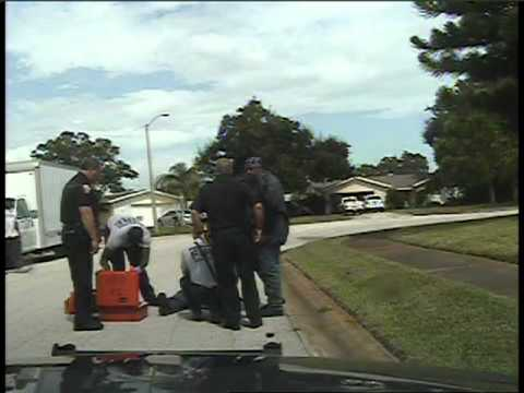 White cop beating old black man courtesy of the Melbourne FL Police Department