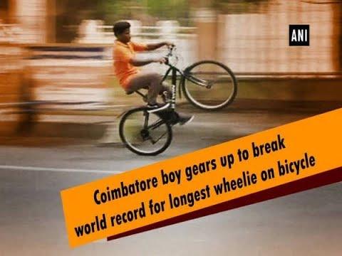 Coimbatore Boy Gears Up To Break World Record For Longest Wheelie On