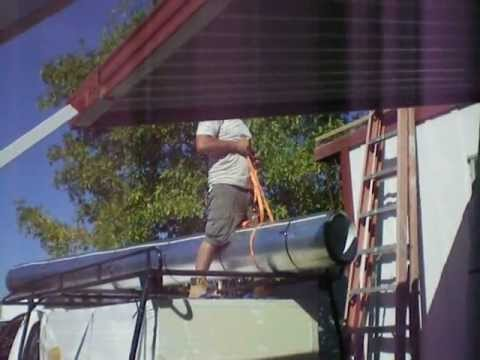 Metal Roof Installed On Mobile Home (Before U0026 After)