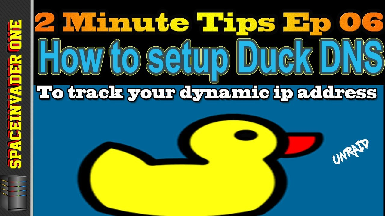 How to setup Duck DNS on unRAID to track your ip address 2 minute tips ep 06