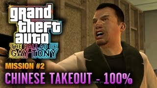 GTA: The Ballad of Gay Tony - Mission #2 - Chinese Takeout [100%] (1080p)