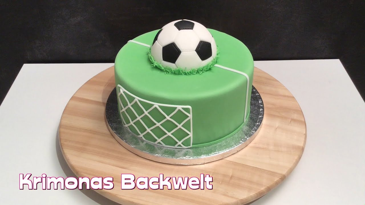fu ball fondant torte soccer ball cake motivtorte anleitung youtube. Black Bedroom Furniture Sets. Home Design Ideas