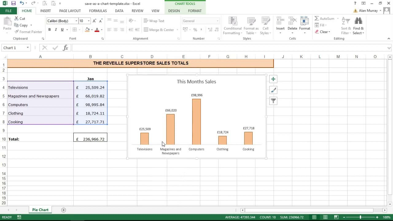 Create Charts Quicker By Saving Chart Templates In Excel   YouTube  Graph Chart Templates