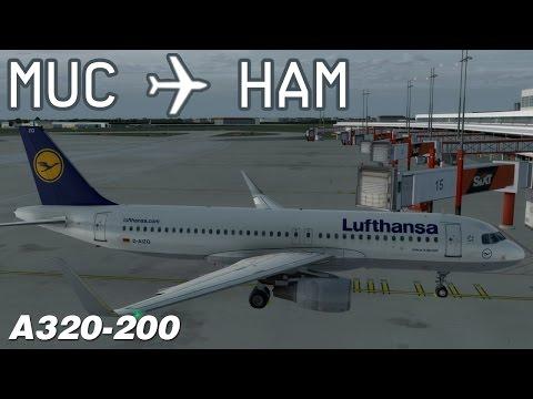 [P3D] Munich to Hamburg | DLH2070 | Lufthansa | Aerosoft Airbus A320 | IVAO