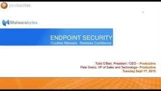 Malwarebytes Endpoint Security Webinar