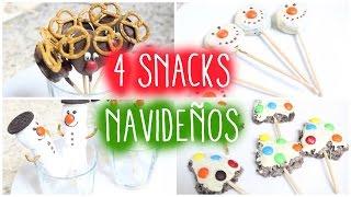 4 SNACKS NAVIDEÑOS!! MUY FACIL Thumbnail