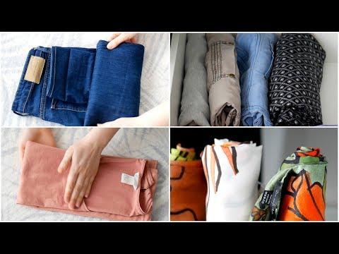 Kleidung falten nach Konmari | Effektives & platzsparendes Aufbewahren von Oberteilen & Hosen
